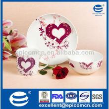 Novo encantador dom porcelana atacado pequeno-almoço Set Para amado BC8026