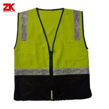 PVC NAME CARD POCKETS VEST SAFETY
