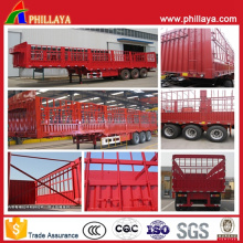 3 Axles Fence Farm Cargo Transport Semi Trailer