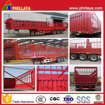 Fuwa Axles Stake Cargo Semi Trailer Stainless Steel Air Suspension