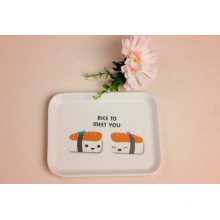 Bamboo Fiber Tableware Tray with Printed (BC-TP1005)