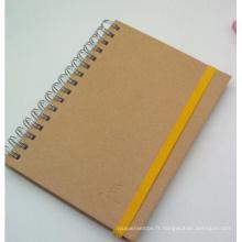 2015 Nouveau Style Kraft Cahier à spirale / Journal