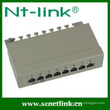 cat.5e rj45 shield 8 port patch panel