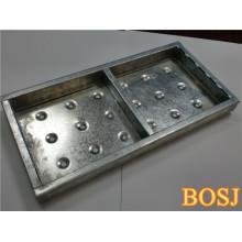 Plate-forme d'échafaudage en métal pour système d'échafaudage en construction