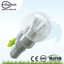 e14 haute puissance led ampoule 3w couvercle en verre