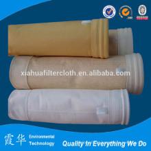 Aramida fibra agulha sacos de ar filtro para fábrica de cimento