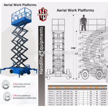 4-18m stored hydraulic movable scissor lift table