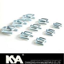 Boucles en acier galvanisé de 25 mm pour cercler