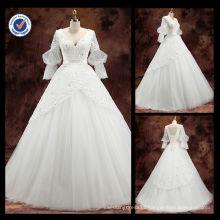 2016 Wholesale Elegant half Sleeve A-Line Bridal Wedding Gown wedding dress