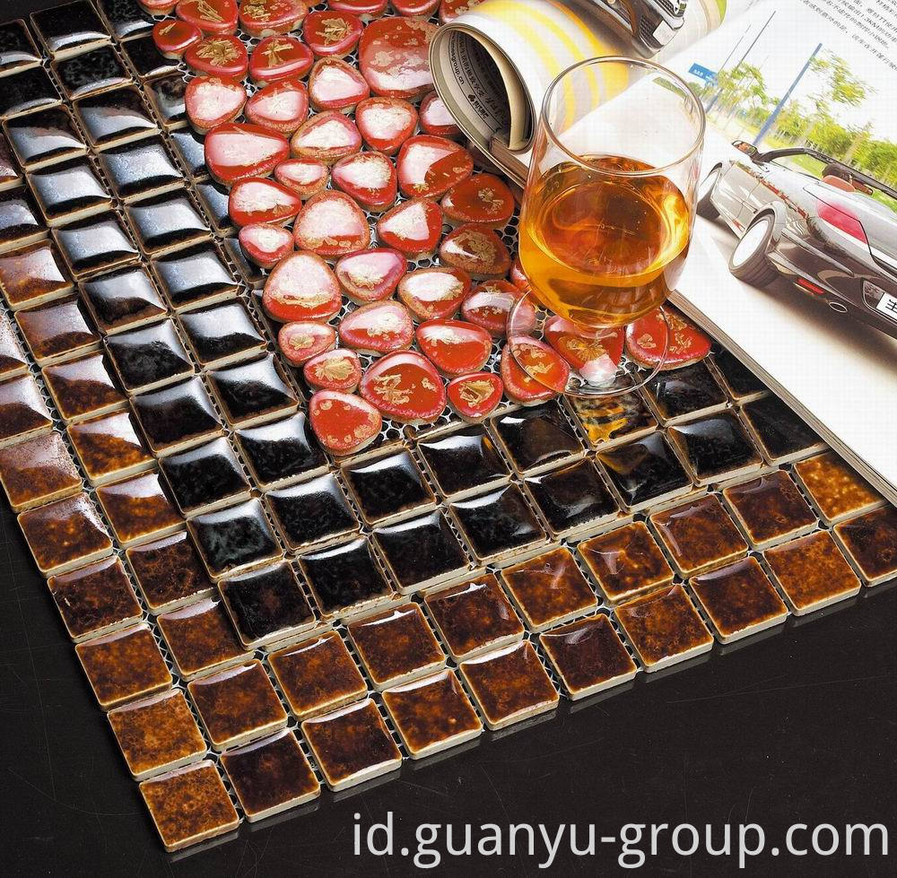 Glazed Transforming Ceramic Mosaic Decoration Sample