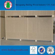 Panneaux de particules tubulaires de haute qualité pour l'utilisation du noyau de la porte