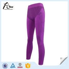 Púrpura Color Pantalones Señora Sexy Sport Ropa interior caliente Tight