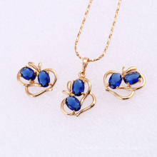 61850 Xuping fashion delicate colourful Jewelry Set Charms 18K Gold Jewelry hot sale set