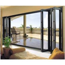 Woodwin Bonne qualité Verrouillage thermique en aluminium Verre trempé Porte pliante
