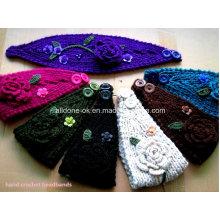 Personalizado Moda Novo Design Mão Knitted Ladies Headband Neckwarmer Turbante