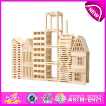 Hot Sale Eco-Friendly Non-Toxic Wooden Toy Blocks for Kids, Wooden Toy Building Block Toys for Children, Wooden Games Set W03b014