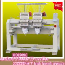 HOLiAUMA 8 Zoll DAHAO System 2 Kopf 15 Nadeln Computergestützte Stickmaschine für kommerzielle und industrielle Verwendung