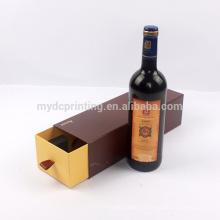 Almacenamiento de caja de papel de regalo de vidrio de vino por encargo