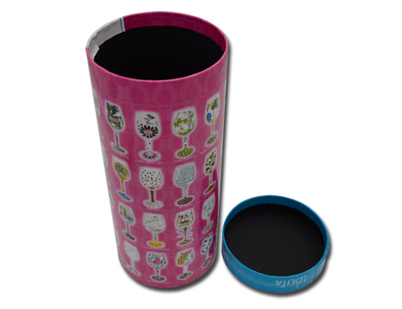 Cylinder shaped gift box