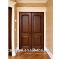 Classic Four panel solid interior position double wooden door