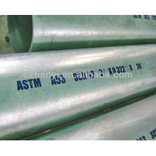 Hot-dipped galvanized ASTM A53B 8'' SCH40 seamless carbon steel pipe tube