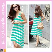 Оптовые летние зеленые платья для дам (50141-1)