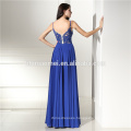 2017 hot sell royal blue laced evening dress long sleeve mermaid wedding evening long dress