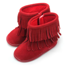 Hot Red Baby Leather Children Winter Boots Wholesale