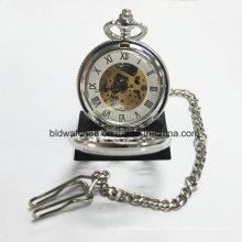 Popular reloj de bolsillo mecánico para mujeres hombres