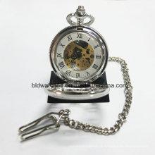 Relógio de bolso mecânico popular para mulheres homens