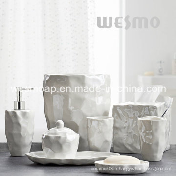 Accessoires de salle de bains en porcelaine organique (WBC0845A)