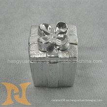Caja de forma galvanoplastia de cerámica, caja de baratija (decoración del hogar)