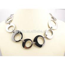 316L Edelstahl lange silberne chirurgische Stahl große breite Kette Link Halskette