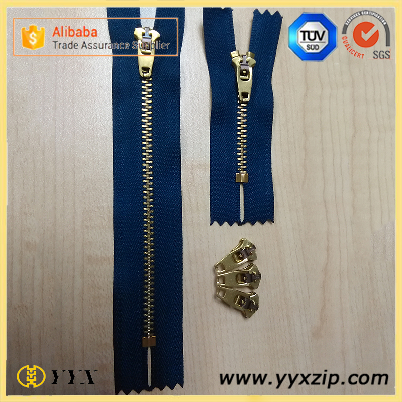 4#YG metal zipper & slider