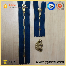 Biru Laut 4YG Semi Auto Lock Metal Zipper