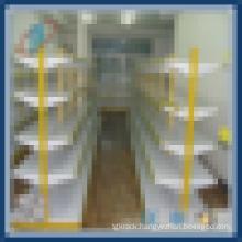 standard gondola supermarket shelves