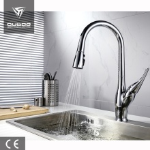 Deck Mounted Chrome Finished Single-Handle Kitchen Faucets