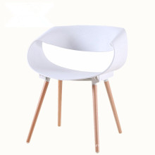 Modern infinite leisure creative negotiation wood leg plastic dining chair