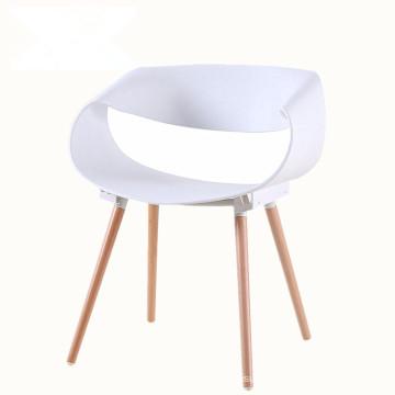 Modern infinite leisure creative negotiation wood leg plastic dining chair