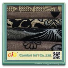 Tissu chaud de sofa de Jacquard de la vente 2015 / tissu de sofa de flocage / tissu velours superbe superbe