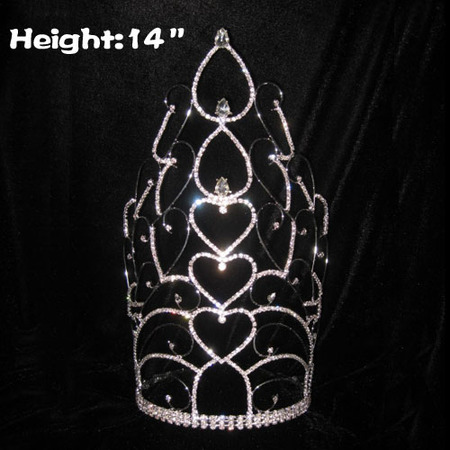 14in Tall Wholesale Crystal Crowns