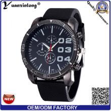 Yxl-175 promoción reloj de los hombres de la venta caliente Rubber Big Dial cronógrafo relojes deportivos de lujo relojes de cuarzo de silicona hombres