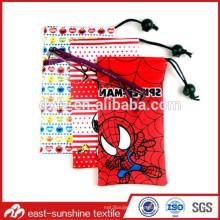 Microfaser Tunnelzug Gläser Beutel, 80% Polyester und 20% Polyamid Microfaser 3D Gläser Beutel