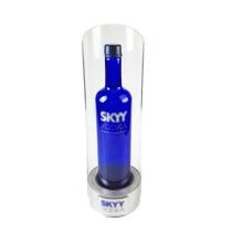 Custom Design Countertop LED Liquor rack Display Stand acrylic wine bottle holder