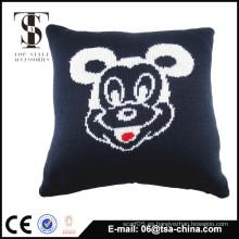 Material de acrílico y lino Mickey Jacquard de punto de cojín / almohada de espalda
