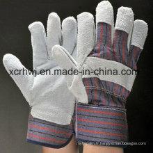 Gants de soudure courts, gants de sécurité, gants en cuir de paume rembourrés, gants de travail en cuir de palme de 10,5 po, gants de conducteur Fabricant