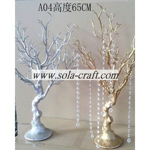 65 CM Silver and Gold Branch Plastic Wedding Wishing Crystal Tree