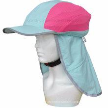 Chapeau de casque de vélo imperméable à haute vis avec couverture réfléchissante