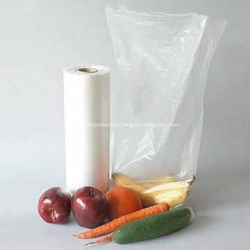 Saco plano de supermercado para armazenamento de alimentos para cozinha
