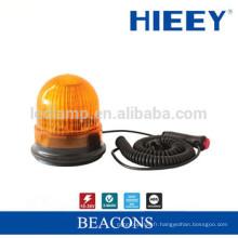 Lampe à lampe d'alarme ambrée à LED Lumière d'avertissement Led, éclairage rotatif et flash stroboscopique Magnétique, lampe stroboscopique LED